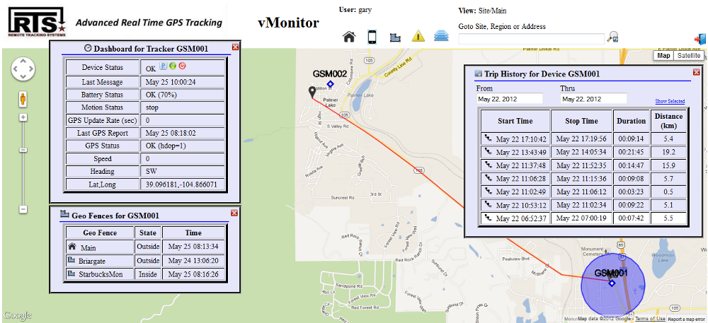vMonitor 2.1 Alert Screen